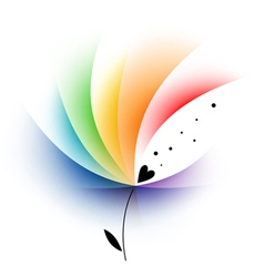 Rainbow abstract flower vector