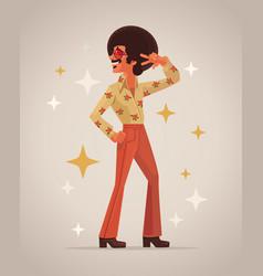 Retro disco dancer character vector