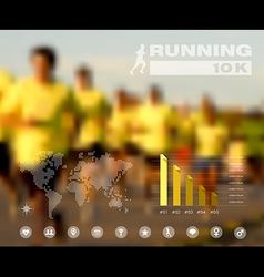 Running people blurred infographic vector image vector image