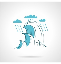 Sea waves flat icon vector image