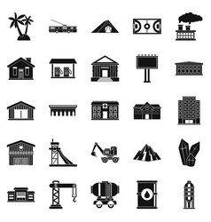 Situation icons set simple style vector
