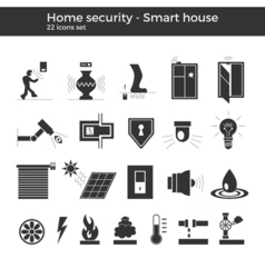 Smart home icons vector image