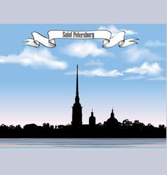 St petersburg landmark russia saint peter and vector