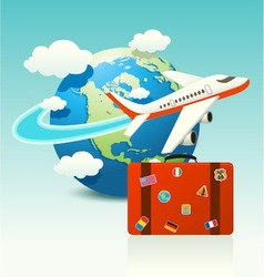 Travel Icon with Luggage vector image