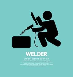 Welder graphic sign vector