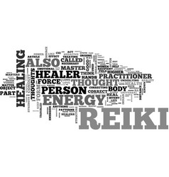 what is reiki text word cloud concept vector image vector image