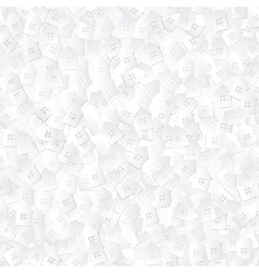 White abstract background with 3d paper cut houses vector
