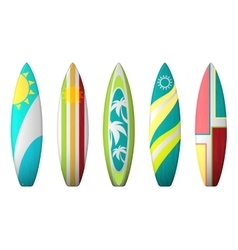 Surf boards designs surfboard coloring set vector