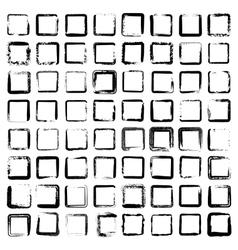 Set of 64 unique ink sketched shapes vector