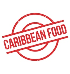 Caribbean food rubber stamp vector