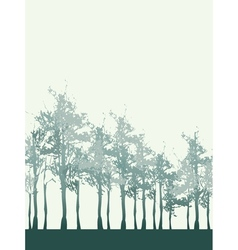Tree Forest Background vector image