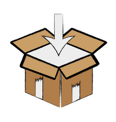 Box pack to delivery services vector