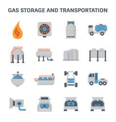 Gas storage icon vector
