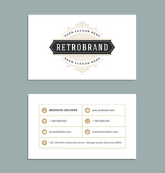 Business card vintage ornament style and luxury vector