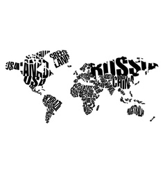 World map in typography vector