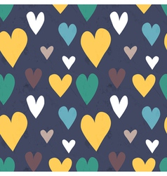 Grungy seamless heart pattern for valentines day vector