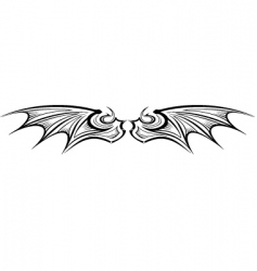 Dragon wing vector