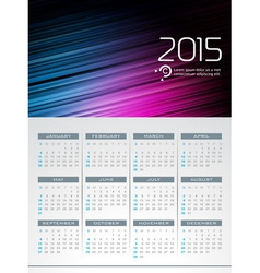 Calendar 2015 design on abstract color background vector