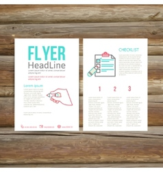 Abstract brochure flyer design checklist vector