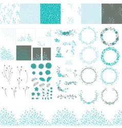 Set of elements for design vector