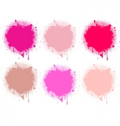 Splash pink collection vector