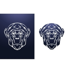 Vintage monkey label retro design graphic vector