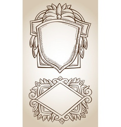 Border frame engraving ornament vector