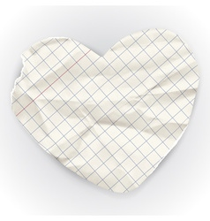 Paper banner in the shape of heart vector image