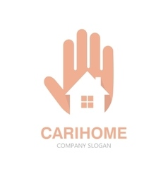 Hand and house logo concept vector