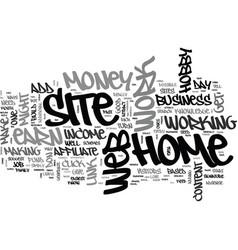 Affiliate web sites make money text word cloud vector