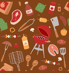 Barbecue home or restaurant rarty dinner products vector