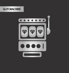 black and white style slot machine vector image vector image