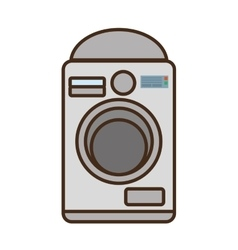 Cartoon washing machine home appliance vector