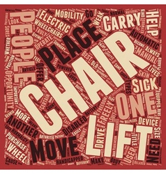 Chair lifts a help sick and disabled people to vector