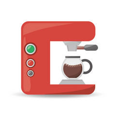 coffee machine maker beverage menu vector image