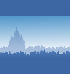 collection of france city skyline landscape vector image vector image