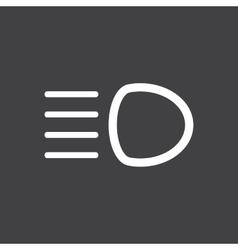 Distant light icon vector