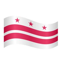 flag of washington dc waving white background vector image vector image