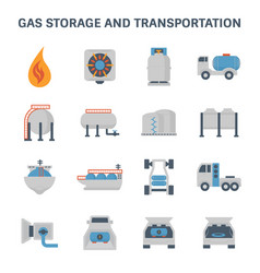 gas storage icon vector image vector image