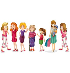 Girls of all ages vector image