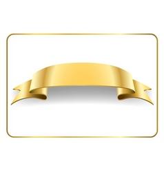 Gold satin ribbon on white 4 vector