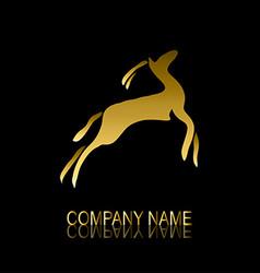 golden gazelle symbol vector image vector image