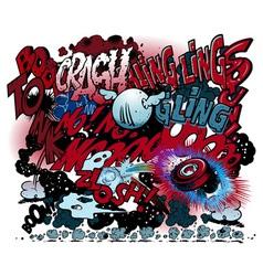Graffiti comic book explosions vector