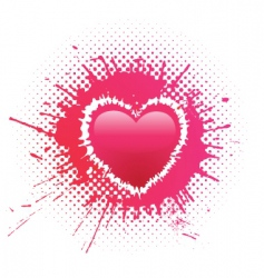 heart blot vector image