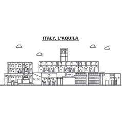 Italy l aquila architecture line skyline vector