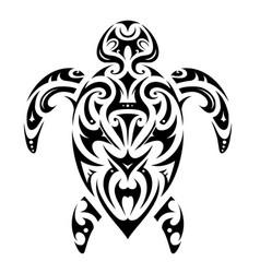 maori style turtle shape vector image