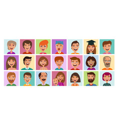 people set of icons avatar profile person human vector image