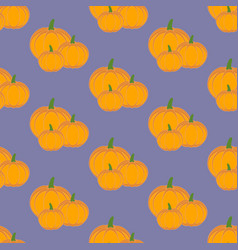 pumpkin vegetable pattern vector image vector image