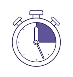 Purple line contour of stopwatch icon vector