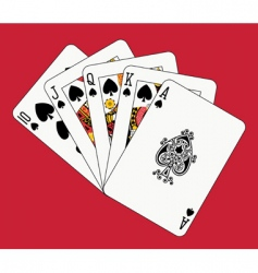 royal flush spades vector image vector image